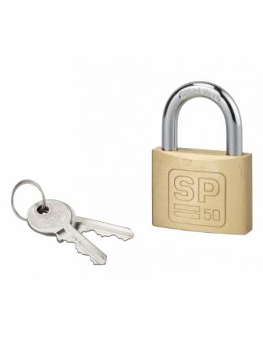 Cadenas à clé SP, intérieur, 50 mm, anse acier cémenté, 2 clés - Serrurerie de Picardie Cadenas