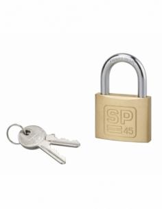 Cadenas à clé SP, intérieur, 45 mm, anse acier cémenté, 2 clés - Serrurerie de Picardie Cadenas