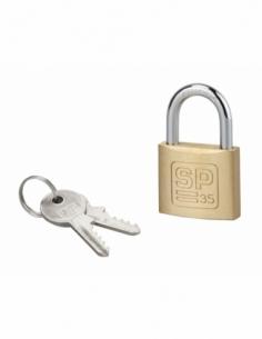 Cadenas à clé SP, intérieur, 35 mm, anse acier cémenté, 2 clés - Serrurerie de Picardie Cadenas