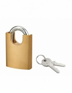 Cadenas à clé SP 40P, 40mm, anse acier cémenté nickelé, 2 clés - Serrurerie de Picardie Cadenas