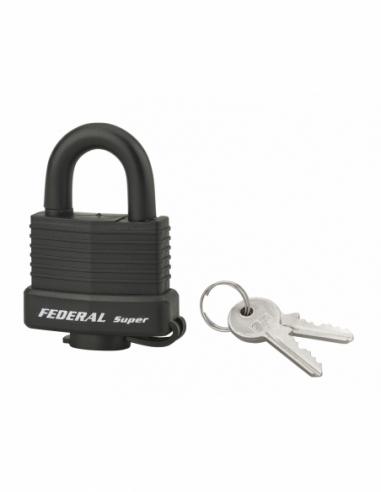 Cadenas à clé SP, anti-corrosion, 40mm, gainé PVC, anse inox, 2 clés - Serrurerie de Picardie Cadenas