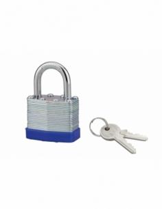 Cadenas à clé SP, intérieur, 40mm, anse acier cémenté nickelé, 2 clés - Serrurerie de Picardie Cadenas