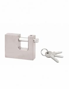 Cadenas à clé SP, extérieur, 70mm, anse acier chromé, 2 clés - Serrurerie de Picardie Cadenas