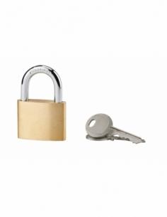 Cadenas à clé, intérieur, ovale, 50mm, anse acier cémenté nickelé, 2 clés - Serrurerie de Picardie Cadenas