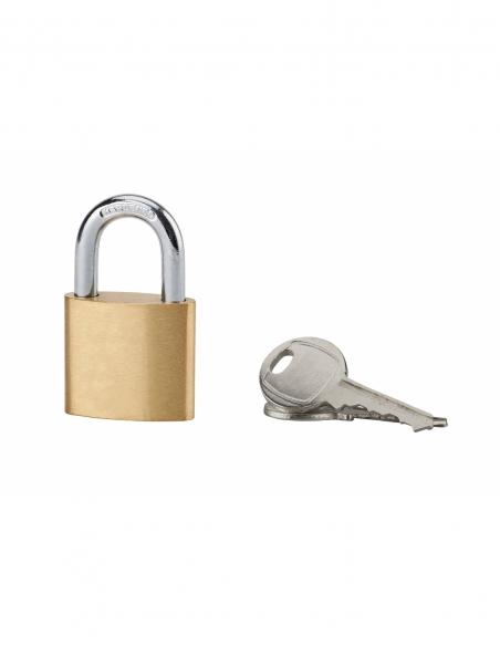 Cadenas à clé, intérieur, ovale, 30mm, anse acier cémenté nickelé, 2 clés - Serrurerie de Picardie Cadenas