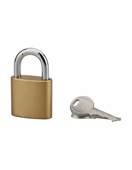 Cadenas à clé, intérieur, ovale, 38 mm, anse acier cémenté, 3 clés - Serrurerie de Picardie Cadenas
