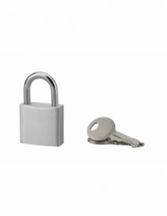 Cadenas à clé, extérieur, alu, 30mm, anse acier nickelé, 2 clés - Serrurerie de Picardie Cadenas