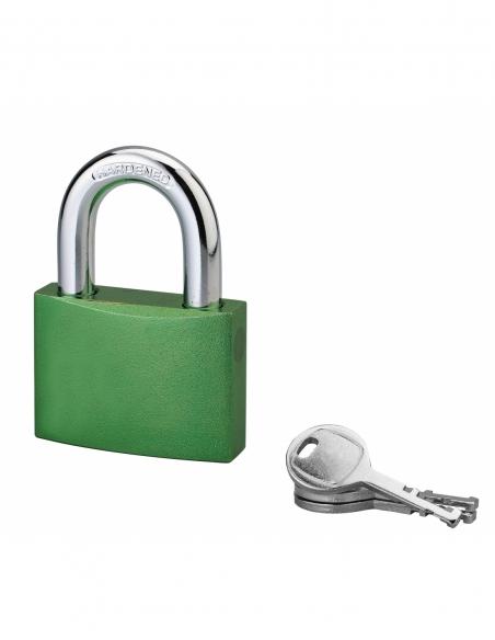 Cadenas à clé Bombe, alu, 60mm, anse acier cémenté, 3 clés - Serrurerie de Picardie Cadenas