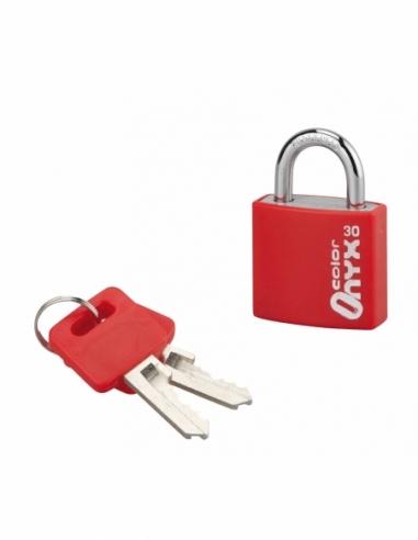 Cadenas à clé Color, intérieur, alu, 30mm, anse acier nickelé, 2 clés - Serrurerie de Picardie Cadenas