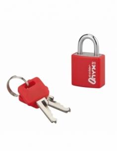 Cadenas à clé Color, bagage, alu, 20mm, anse acier nickelé, 2 clés - Serrurerie de Picardie Cadenas