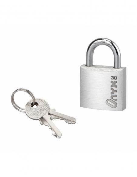 Cadenas à clé, alu, 30mm, anse acier cémenté nickelé, 2 clés - Serrurerie de Picardie Cadenas