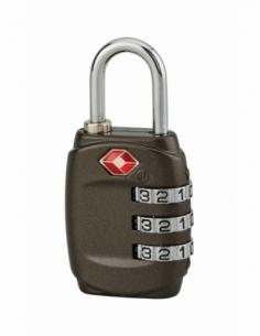 Cadenas à code TSA, bagage, 30mm, anse acier nickelé, 3 chiffres - Serrurerie de Picardie Cadenas