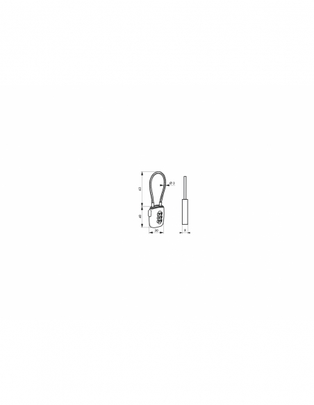 Cadenas à code, bagage, 30mm, câble acier 125mm, 3 chiffres - Serrurerie de Picardie Cadenas