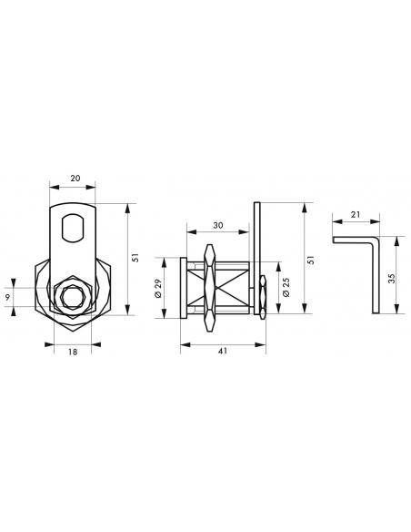 Batteuse BAL, compatible avec la distribution postale, épaisseur maxi 23mm, 2 clés - Serrurerie de Picardie Serrure boîte aux...