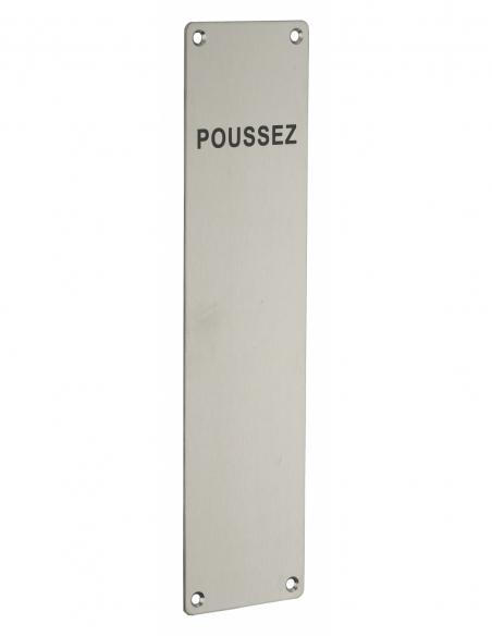 Plaque PUSH inox 300mm - THIRARD Poignée
