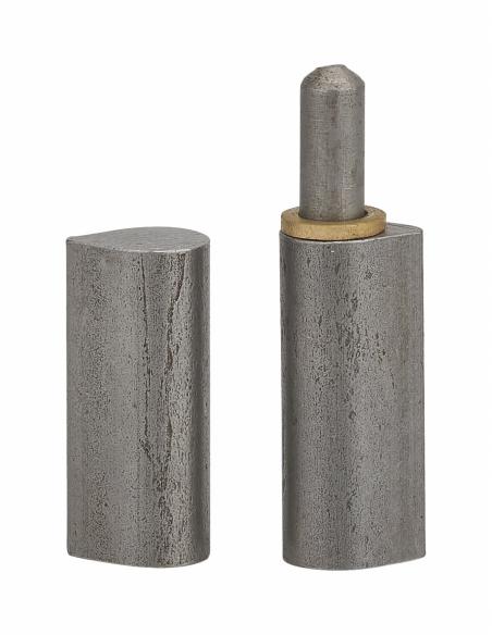 Charnière de porte d'entrée à souder, acier, acier, 60mm, bague laiton - THIRARD Equipement