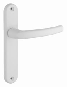Ensemble de poignées pour porte intérieure Sultane sans trou, carré 7mm, entr'axes 165mm, blanc - THIRARD Poignée