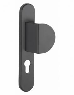 Ensemble de poignées pour porte palière Sultane trou de cylindre, carré 7mm, entr'axes 195mm, noir - THIRARD Poignée