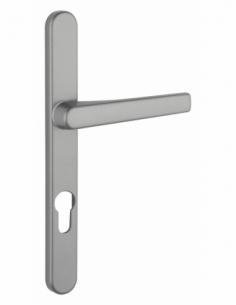Ensemble de poignées pour porte d'entrée Sultane trou de cylindre, carré 7mm, entr'axes 195mm, saillie réduite, inox - THIRAR...