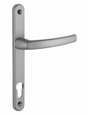 Ensemble de poignées pour porte d'entrée Sultane trou de cylindre, carré 8mm, entr'axes 195mm, inox - THIRARD Poignée