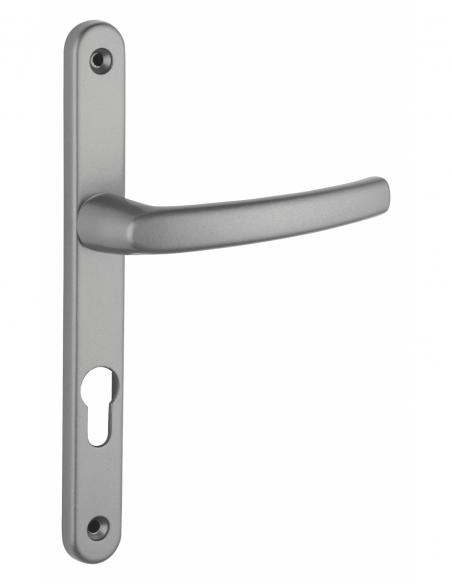 Ensemble de poignées pour porte d'entrée Sultane trou de cylindre, carré 7mm, entr'axes 195mm, inox - THIRARD Poignée