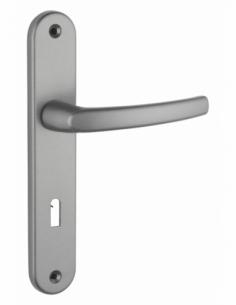 Ensemble de poignées pour porte intérieure Sultane trou de clé, carré 7mm, entr'axes 195mm, gris - THIRARD Poignée