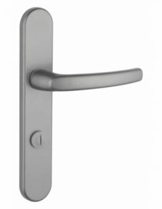 Ensemble de poignées pour porte intérieure Sultane à condamnation, carré 7mm, entr'axes 195mm, inox - THIRARD Poignée