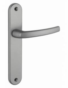 Ensemble de poignées pour porte intérieure Sultane sans trou, carré 7mm, entr'axes 195mm, gris - THIRARD Poignée