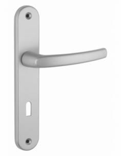 Ensemble de poignées pour porte intérieure Sultane trou de clé, carré 7mm, entr'axes 195mm, argent - THIRARD Poignée