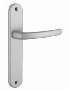 Ensemble de poignées pour porte intérieure Sultane sans trou, carré 7mm, entr'axes 195mm, argent - THIRARD Poignée
