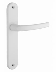 Ensemble de poignées pour porte intérieure Sultane sans trou, carré 7mm, entr'axes 195mm, blanc - THIRARD Poignée