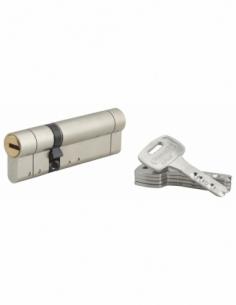 Cylindre de serrure double entrée Federal S, 30x65mm, nickel, anti-arrachement, anti-perçage, 5 clés - THIRARD Cylindre de se...