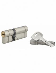 Cylindre de serrure double entrée Federal S, 30x50mm, nickel, anti-arrachement, anti-perçage, 5 clés - THIRARD Cylindre de se...