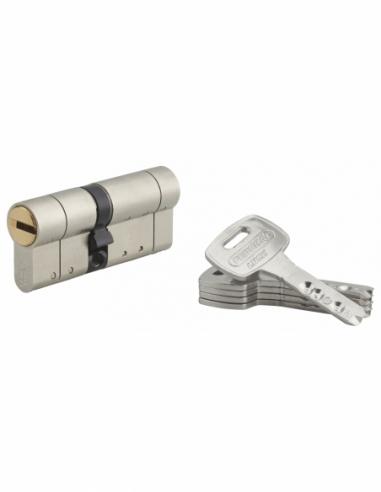 Cylindre de serrure double entrée Federal S, 30x40mm, nickel, anti-arrachement, anti-perçage, 5 clés - THIRARD Cylindre de se...