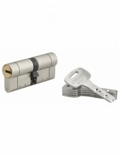 Cylindre de serrure double entrée Federal S, 35x35mm, nickel, anti-arrachement, anti-perçage, 5 clés - THIRARD Cylindre de se...