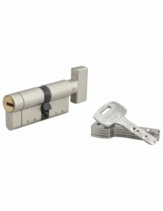 Cylindre de serrure à bouton Federal S, 30Bx42mm, nickel, anti-arrachement, anti-perçage, 5 clés - THIRARD Cylindre de serrure