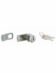 Batteuse avec came pour boîte aux lettres, nickel, longueur 33mm, 2 clés - THIRARD Serrure boîte aux lettres