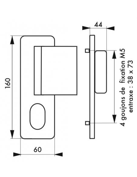 Ensemble de poignées Tribando A2P* pour porte palière, réversible, blanc - THIRARD Poignée