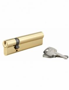 Cylindre de serrure double entrée, 30x90mm, anti-arrachement, laiton, 3 clés - THIRARD Cylindre de serrure