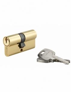 Cylindre de serrure double entrée, 30x35mm, anti-arrachement, 3 clés, laiton - THIRARD Cylindre de serrure