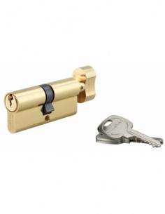 Cylindre de serrure à bouton, 40Bx40mm, anti-arrachement, laiton, 3 clés - THIRARD Cylindre de serrure