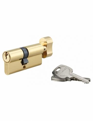 Cylindre de serrure à bouton, 40Bx30mm, anti-arrachement, laiton, 3 clés - THIRARD Cylindre de serrure