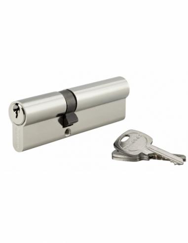 Cylindre de serrure double entrée, 40x60mm, anti-arrachement, nickel, 3 clés - THIRARD Cylindre de serrure