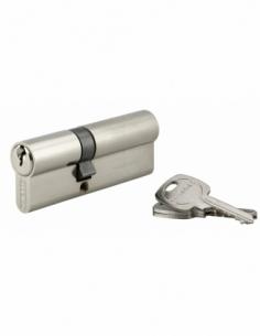 Cylindre de serrure double entrée, 35x50mm, anti-arrachement, nickel, 3 clés - THIRARD Cylindre de serrure