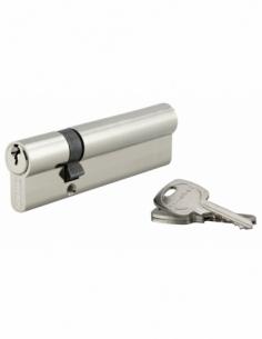 Cylindre de serrure double entrée, 30x80mm, anti-arrachement, nickel, 3 clés - THIRARD Cylindre de serrure