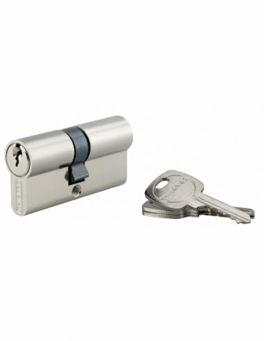 Cylindre de serrure double entrée, 30x35mm, anti-arrachement, nickel, 3 clés - THIRARD Cylindre de serrure