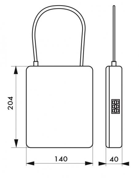 Coffret de sécurité à câble, fermeture par combinaison modifiable, 3 chiffres - THIRARD Cadenas