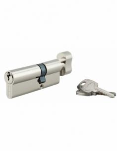 Cylindre de serrure à bouton, 30Bx50mm, anti-arrachement, nickel, 3 clés - THIRARD Cylindre de serrure