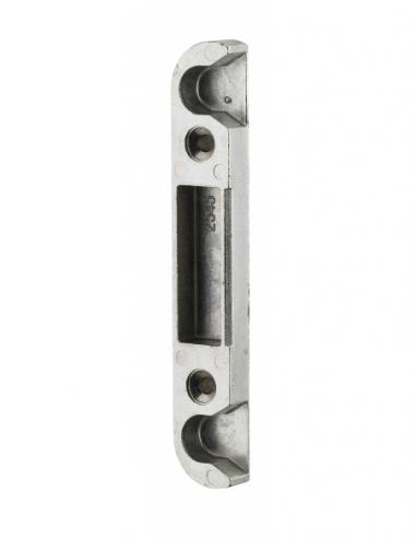Gâche centrale encastrable réversible pour porte d'entrée bois, 114x18x9mm, Decena, 0-2545-00-1 - FERCO by THIRARD Gâche de p...