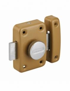 Verrou à bouton Trident pour porte intérieure, acier, époxy bronze - THIRARD Verrous